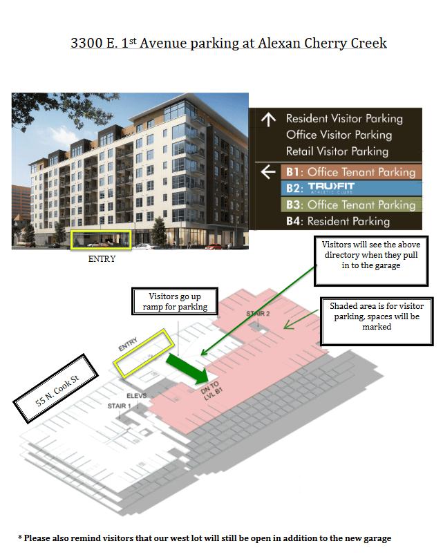 3300 E. 1st Avenue Parking at Alexan Cherry Creek